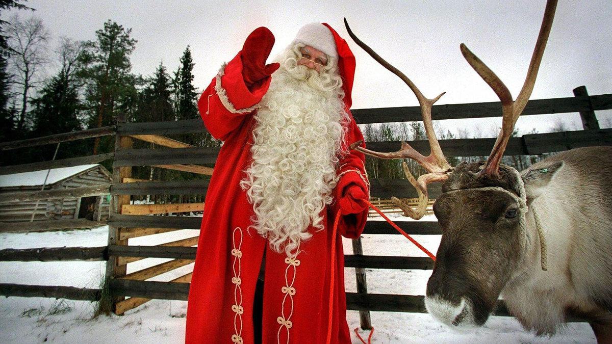 Дед мороз олень и снегурка картинки