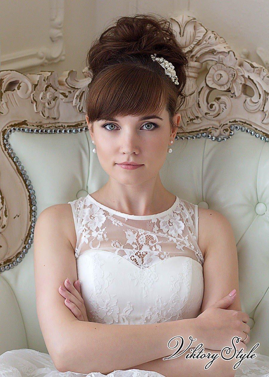 если схема прически на свадьбу с челкой картинки потертостей можно