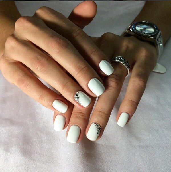 Белый цвет ногтей дизайн фото