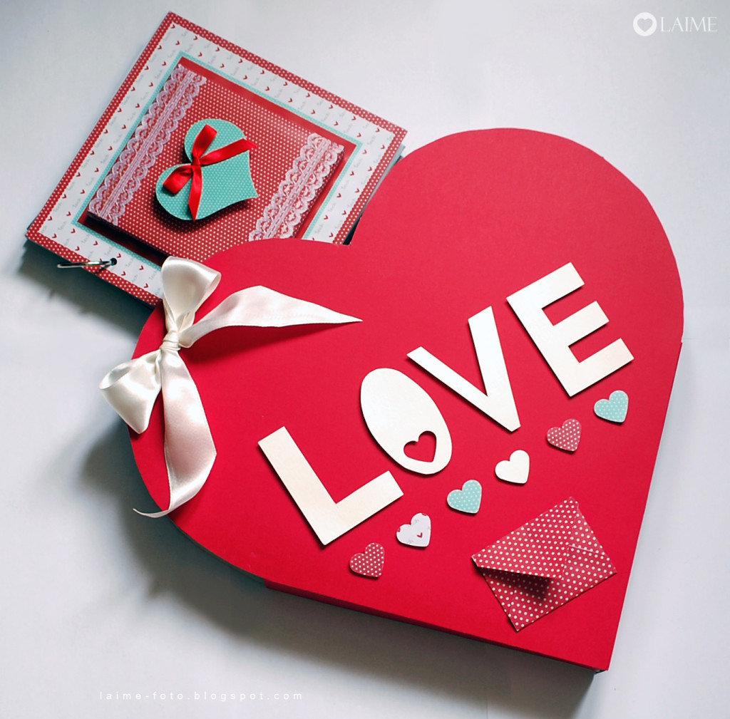 Открытка в виде сердца на 14 февраля