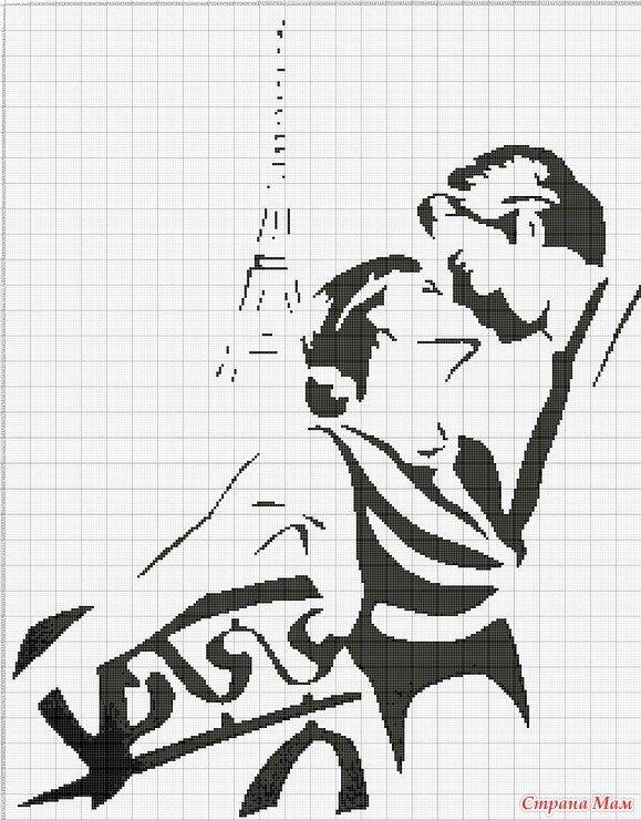 Вышитые крестом подушки в черно-белом цвете со схемами Уют и тепло 8