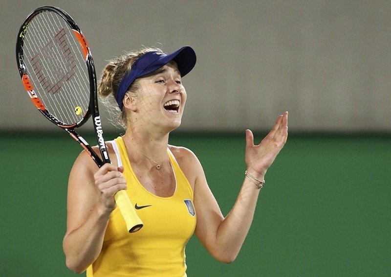 Олимпийские красавицы Теннис. Эмоции украинской спортсменки Элины Свитолиной после победы над Сереной Уильямс (США)