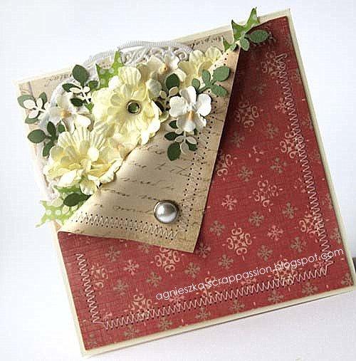 Скрапбукинг открытки с уголком, добрым утром любимой
