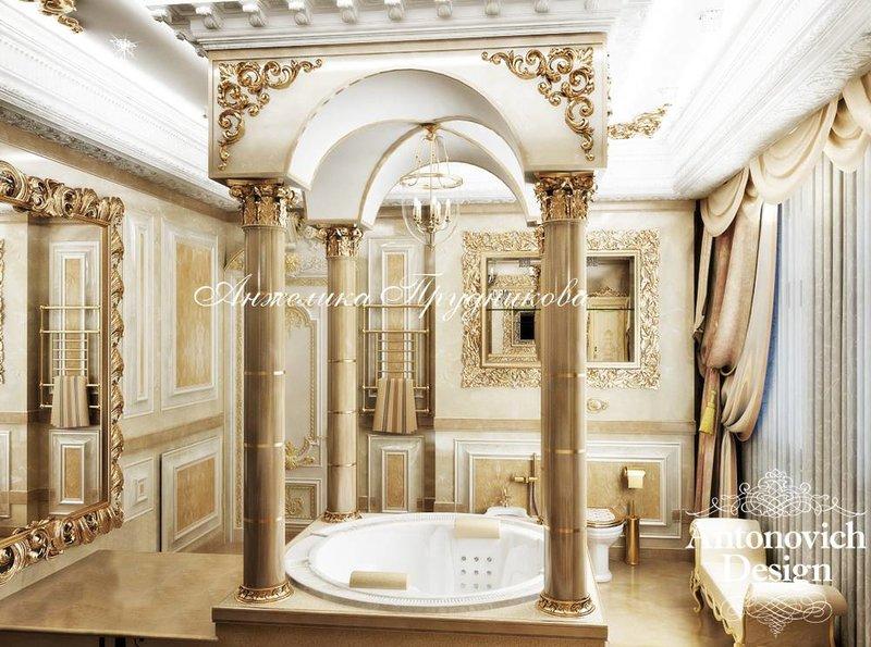 Роскошная ванная комната в стиле барокко - фото реализова...