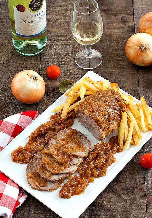 Тушеное мясо по сицилийски