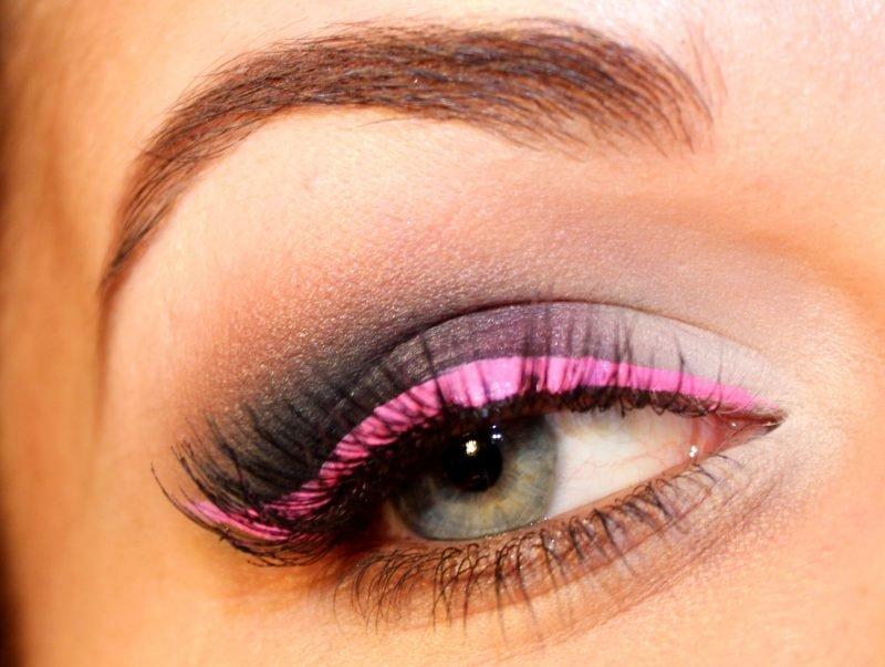 Макияж розово серый фото