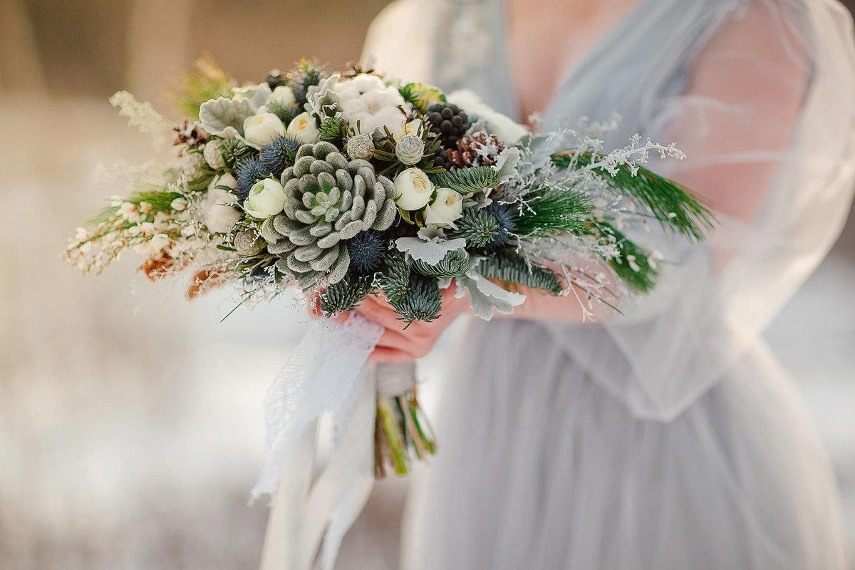 Букет невесты зимняя арск