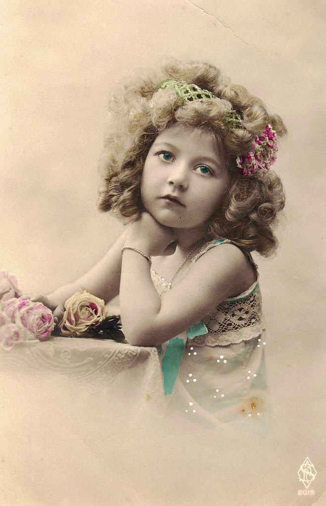 Детские ретро фото открытки