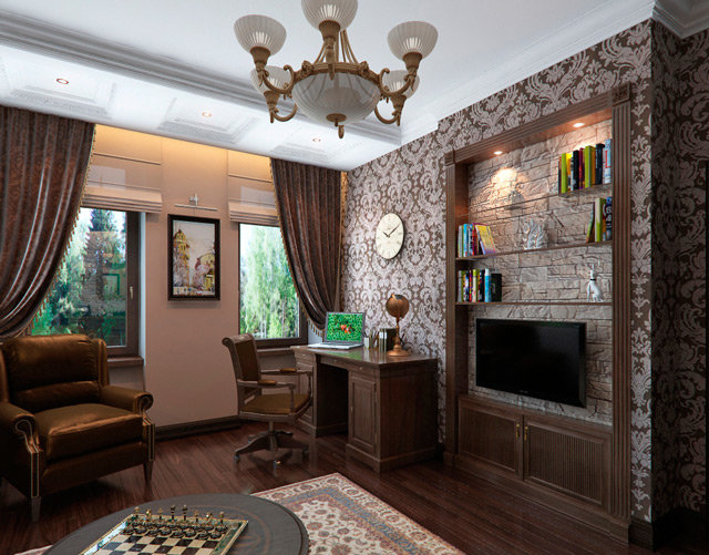 Обустраиваем домашний кабинет в английском стиле