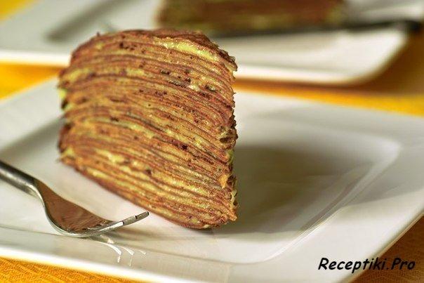 Блинный торт (без выпечки!)