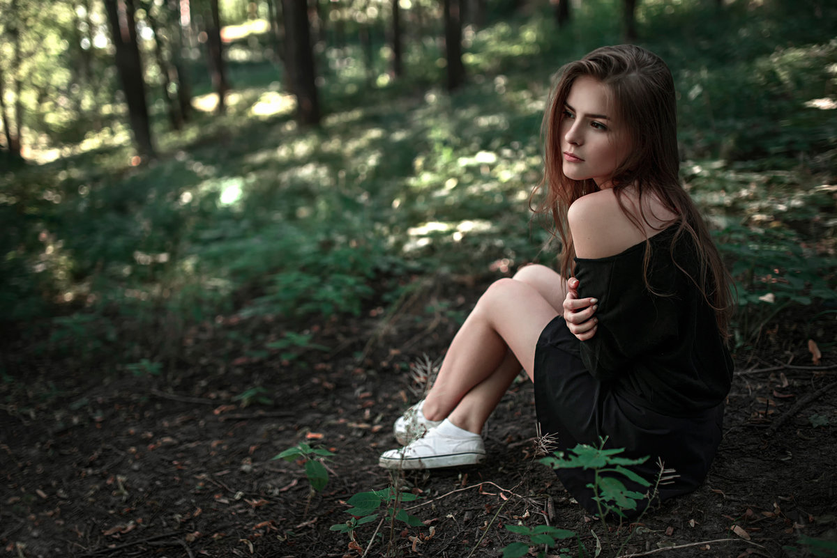 фото красоток в лесу - 6