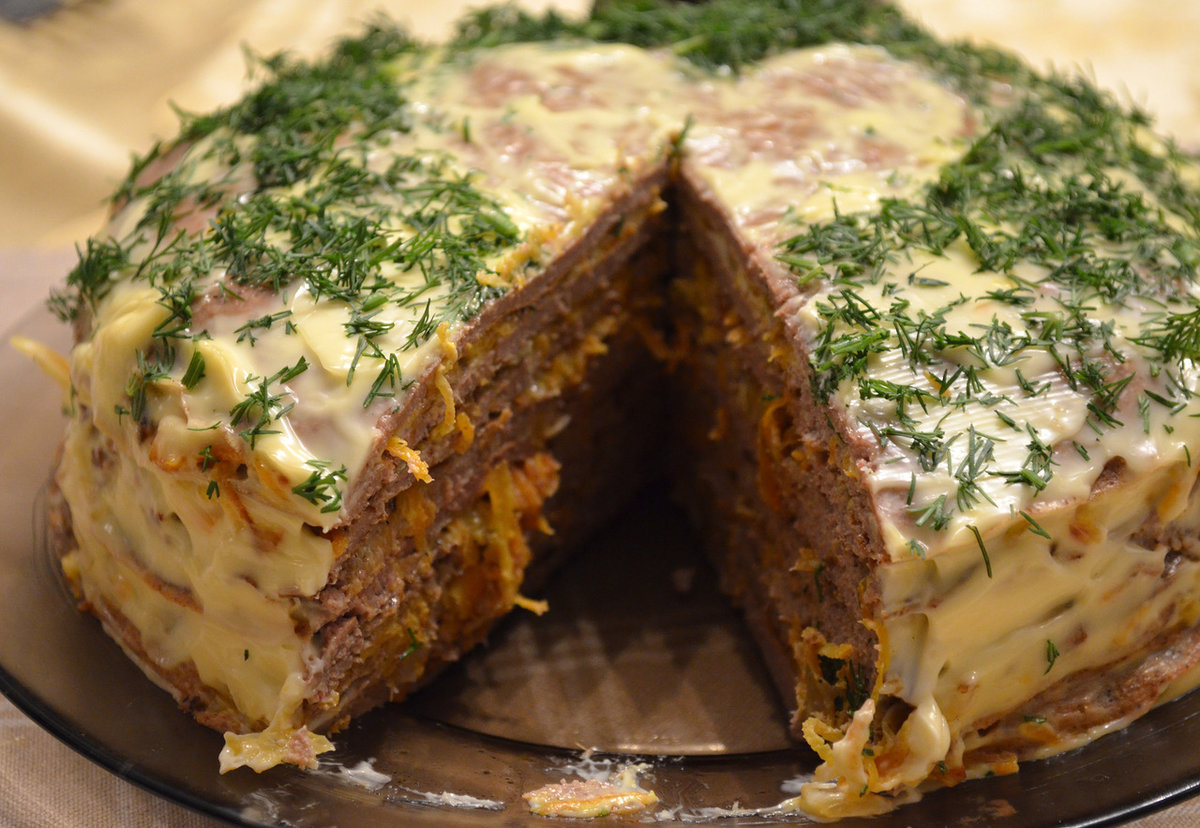 куриный торт рецепт с фото готовим дома одно
