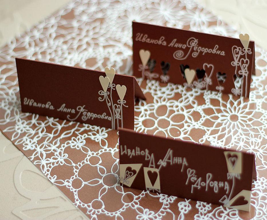 Шоколадные свадебные открытки, танки