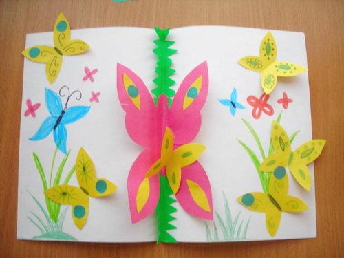 Поделки и цветной бумаги для детей 183
