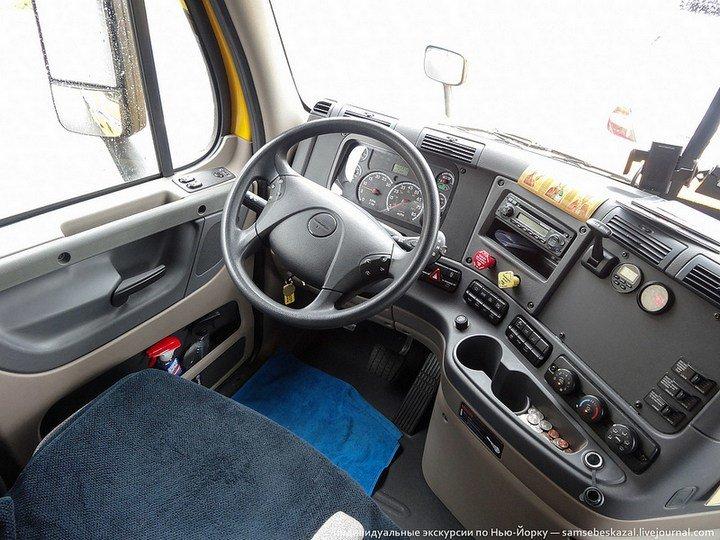 Американский грузовик Freighliner Cascadia изнутри
