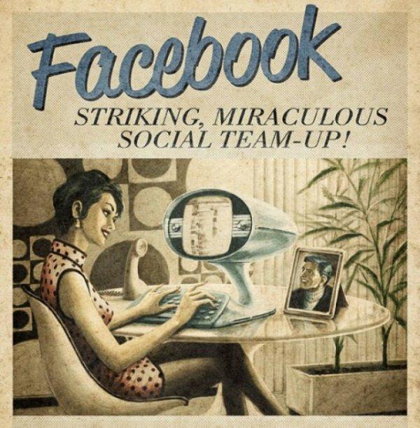 Facebook в винтажном стиле