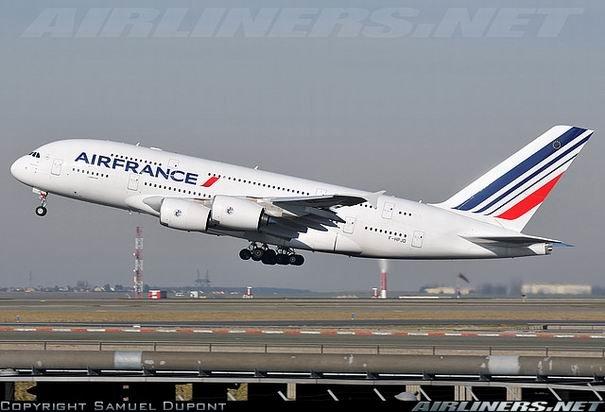 Фото самолета Airbus A380 компании Air France