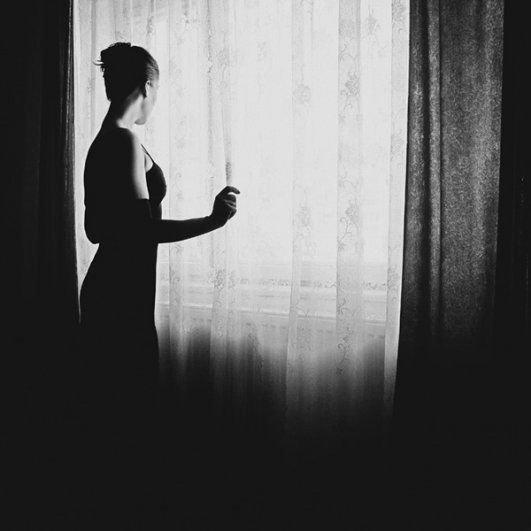 И снова фотопортрет в черно-белом стиле