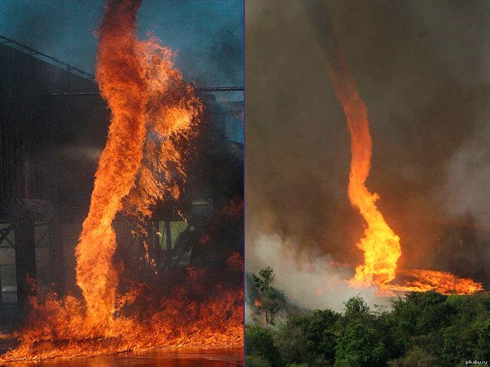 Огненные смерчи - яркие примеры на фото