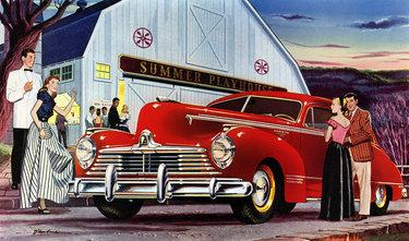 ретро реклама автомобилей плакаты