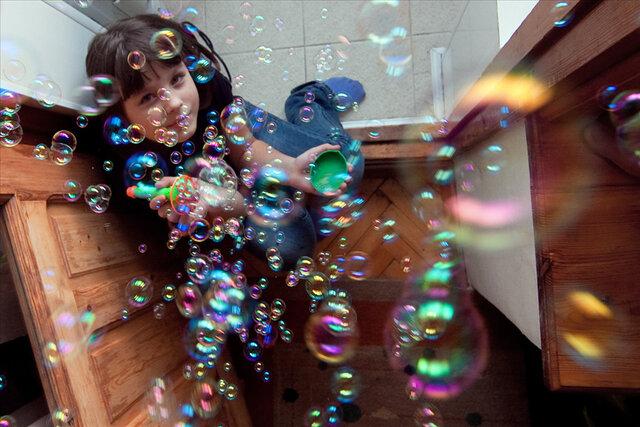 Россыпь мыльных пузырей