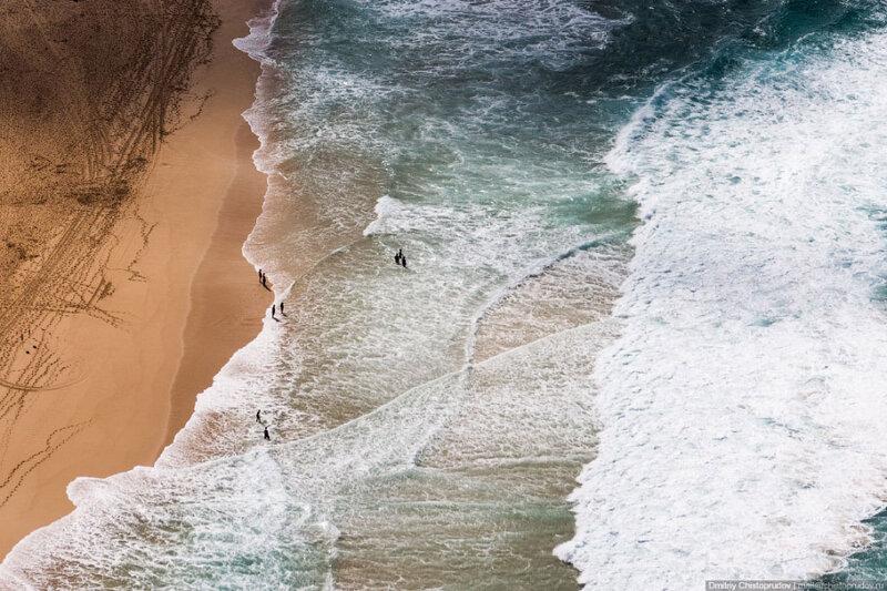 Вид сверху на один из пляжей