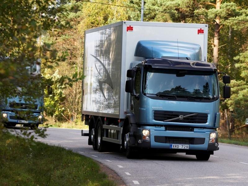 Volvo FE, грузовик вид спереди