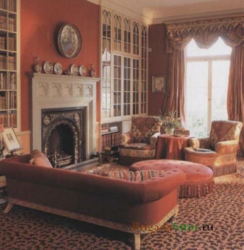 Шторы с ламбрекенами для викторианского стиля