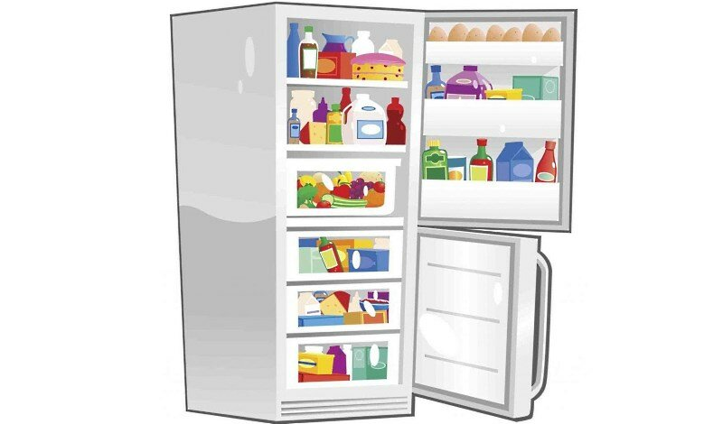 Холодильник картинки для детей, чашка кофе добрым