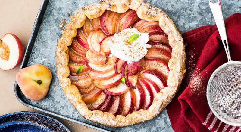Слоеный пирог с персиками. Пошаговый рецепт с фото, удобный поиск рецептов на Gastronom.ru