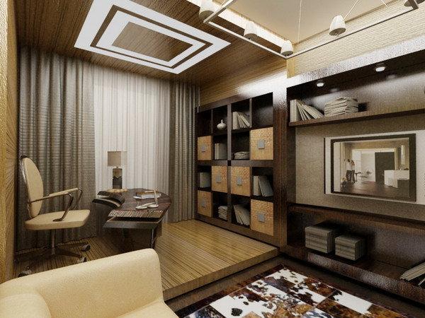 дизайн домашнего кабинета великолепен