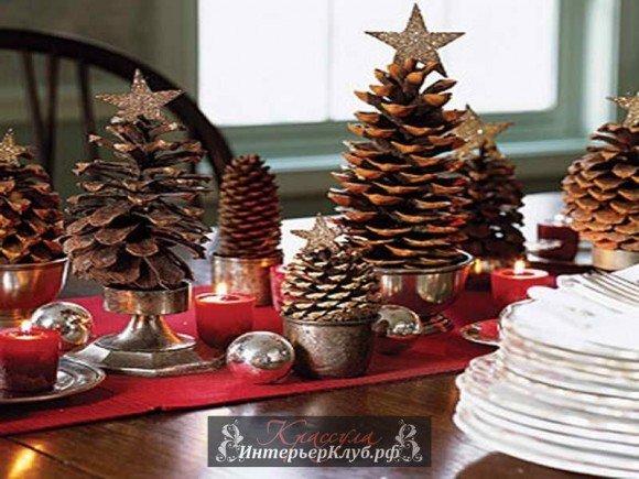 Новогоднее украшение на стол своими руками 13