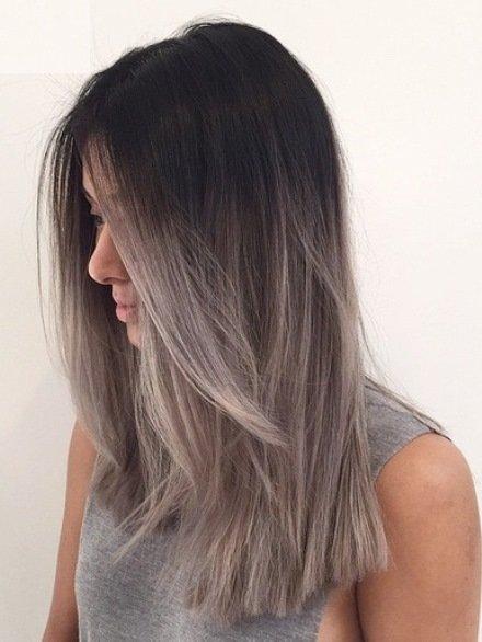 Балаяж на прямых волосах фото