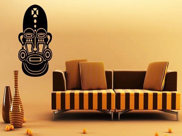 Африканский стиль в интерьере.Пример оформления стены