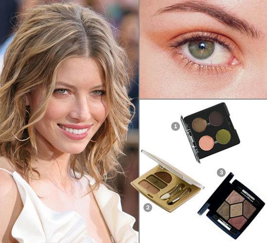 деловой макияж для зеленых глаз