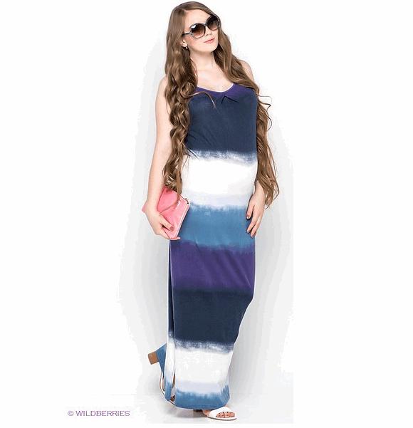 Длинное платье в полоску для беременных