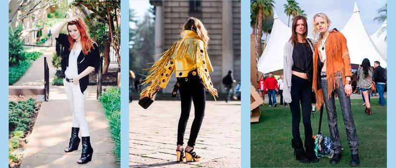 Этнический стиль в одежде:  бахрома снова в моде (фото образы 2015-2016)