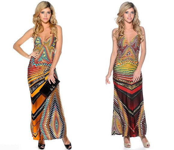 Фото: варианты декора длинных платьев