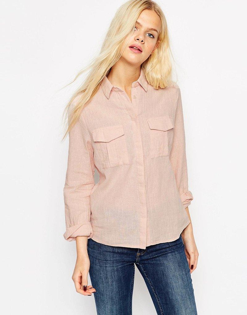 Изображение 1 из Рубашка с карманами в стиле милитари ASOS