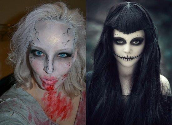 Как накраситься на Хэллоуин: фото и видео макияжа своими руками