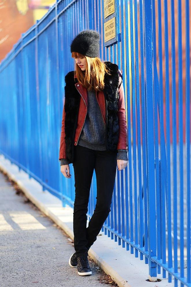 Как выглядеть стильно и не замерзнуть или с чем носить меховую жилетку