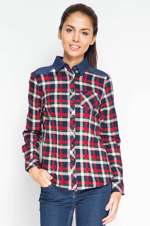 Клетчатая рубашка с длинным рукавом Marimay