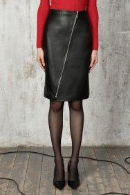 Кожаная юбка-карандаш Rock 15