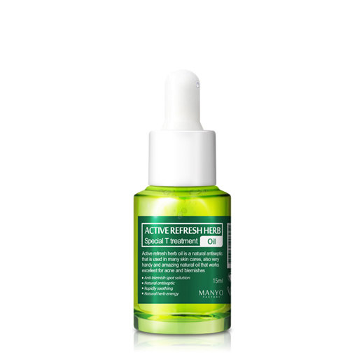 Лечебное масло на травах Active Refresh Herb Special Treatment Oil - в категории Жирная/комбинированная кожа с расширенными порами - manyo-factory.ru