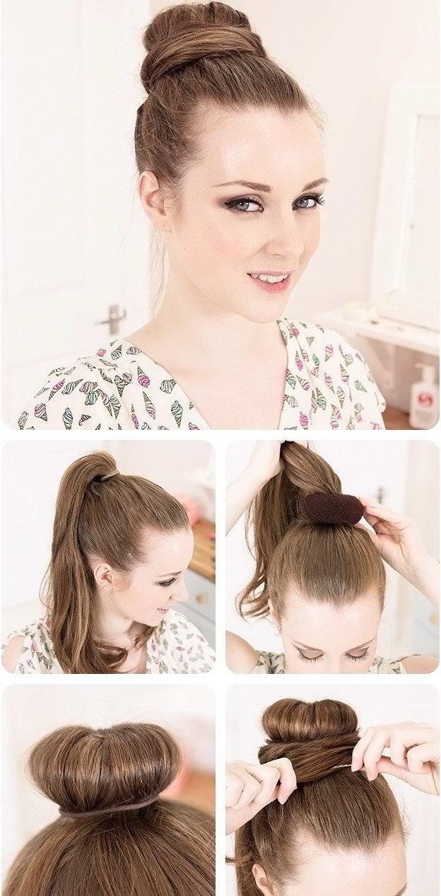 Легкие прически на длинные волосы: 3 варианта пучка (видео)