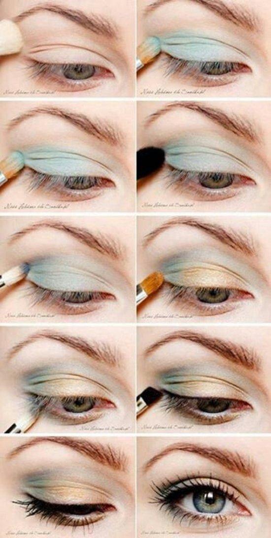 Макияж для зеленых глаз. Пошаговое фото. Видео.