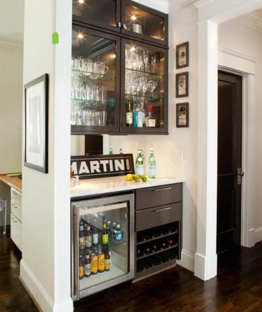 встроенный бар на кухне