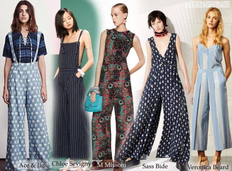 Модные комбинезоны 2015 - весна-лето