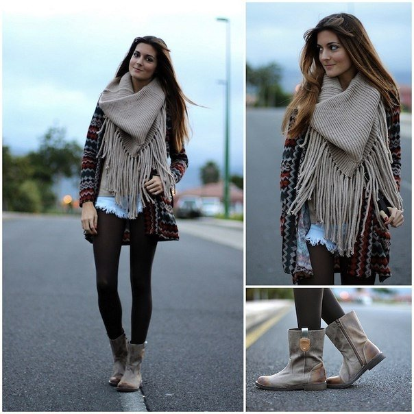 модные шарфы 2015