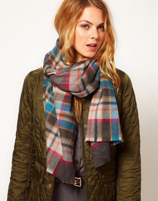 Модные шарфы осень зима 2014 2015: популярные модели и материалы